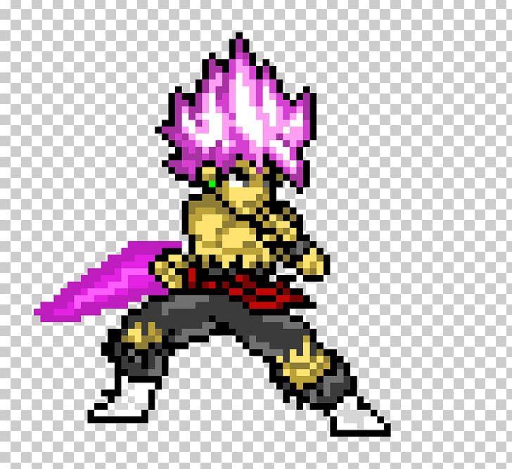 Goku Black Pixel Art Super Saiya Png Clipart 720p Art