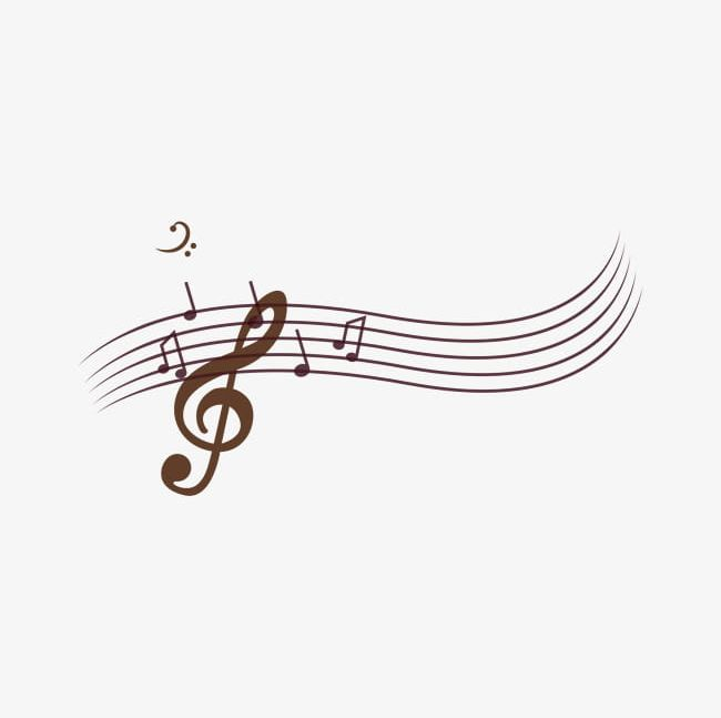 Brown Music Melody Elements PNG, Clipart, Brown, Brown