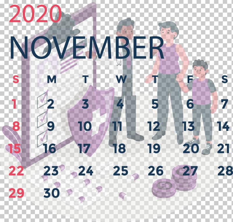 November 2020 Calendar November 2020 Printable Calendar PNG, Clipart, Area, Behavior, Calendar System, Human, Line Free PNG Download