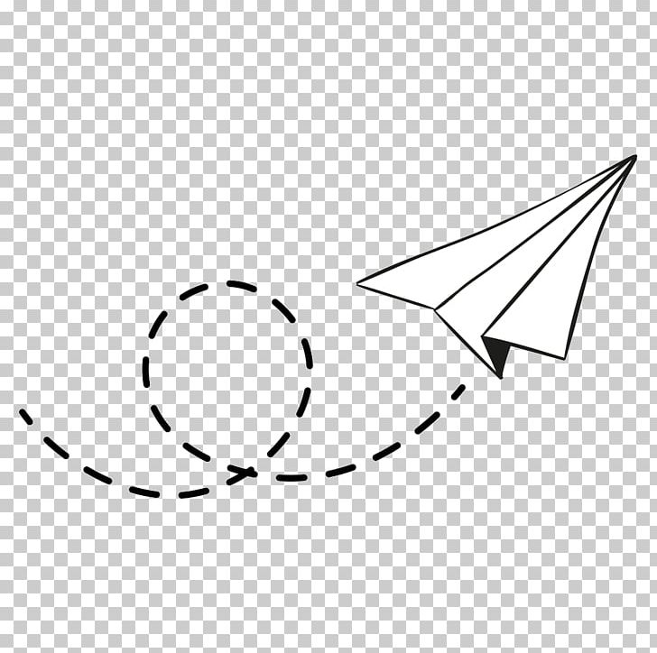 Airplane Paper Plane PNG, Clipart, Airplane, Angle, Area, Black, Black And White Free PNG Download