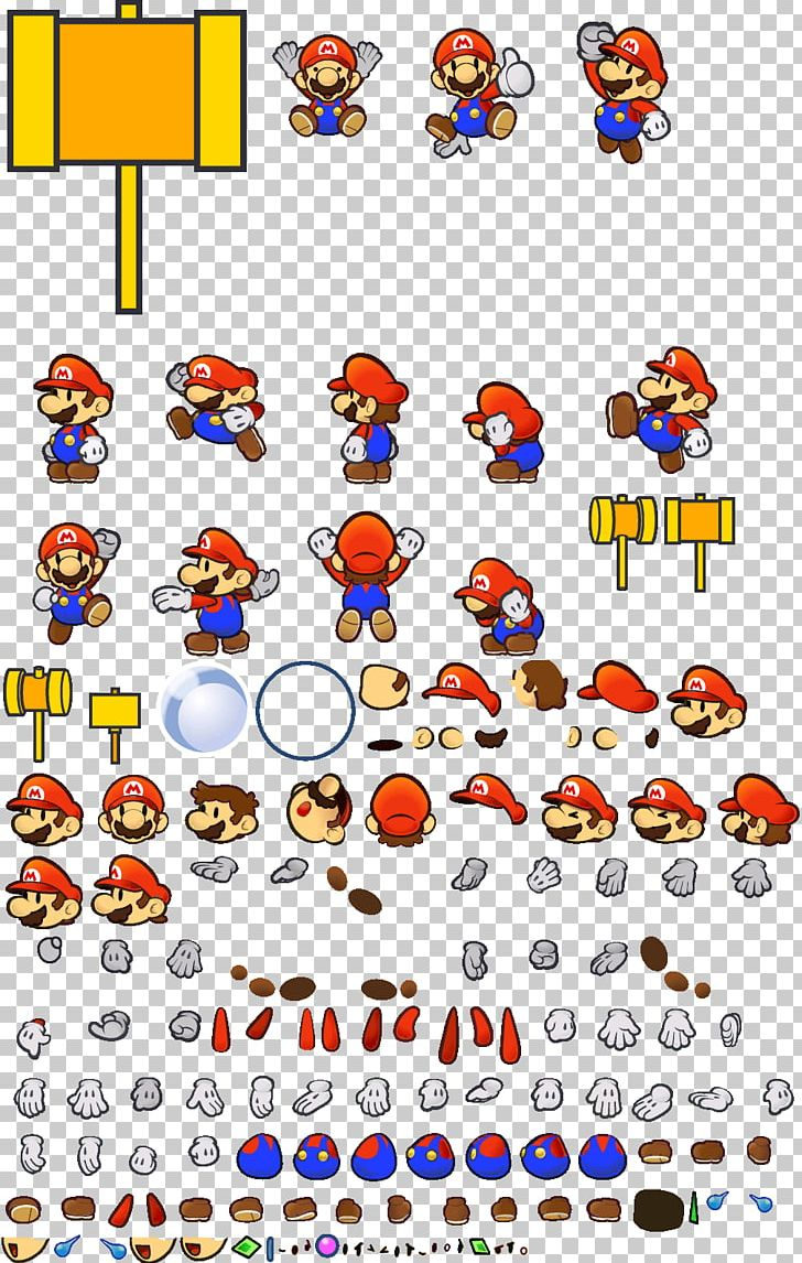Super Paper Mario Sprite Mario Role-playing Games Animation
