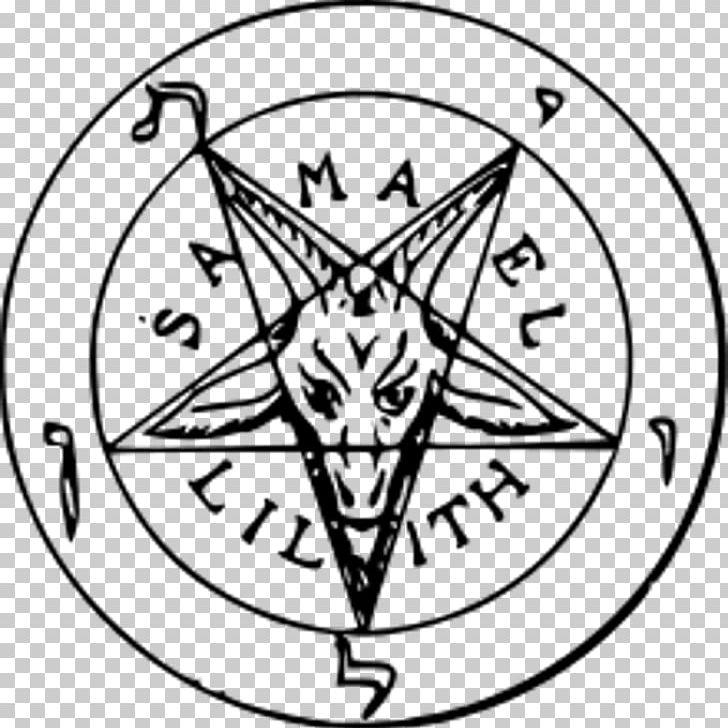 Church Of Satan Sigil Of Baphomet Satanism PNG, Clipart, Area, Baphomet, Black And White, Church Of Satan, Circle Free PNG Download
