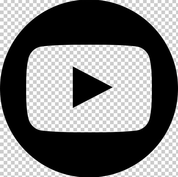 YouTube Logo Computer Icons PNG, Clipart, Angle, Black, Black And White, Brand, Circle Free PNG Download