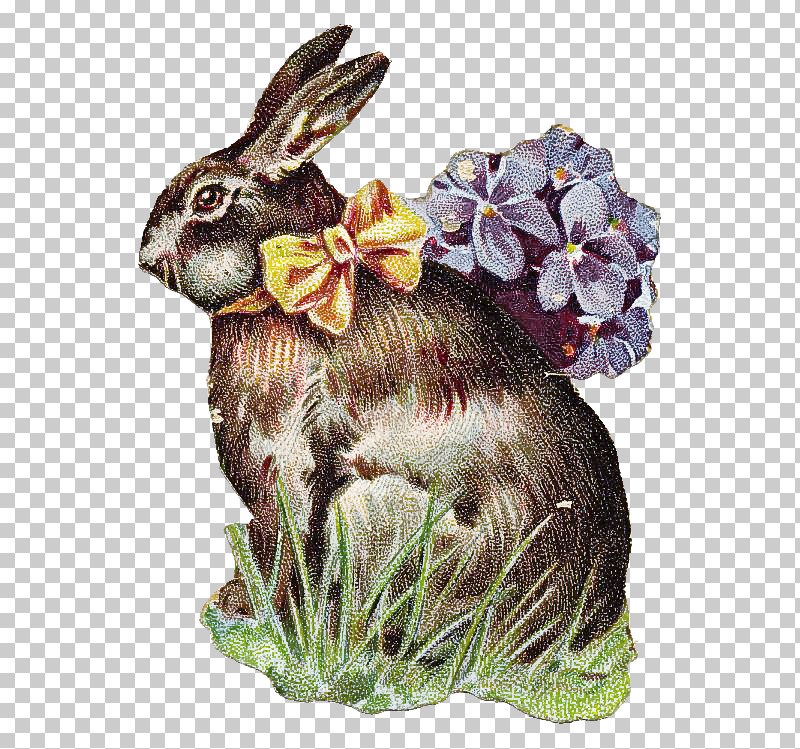 Rabbit Rabbits And Hares Hare Plant Animal Figure PNG, Clipart, Animal Figure, Flower, Hare, Plant, Rabbit Free PNG Download