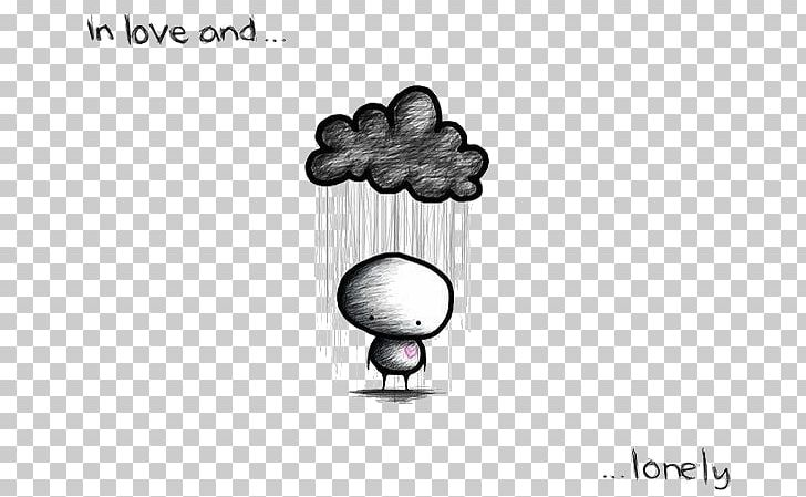 Loneliness Love Sadness Drawing Emotion Png Clipart Black And