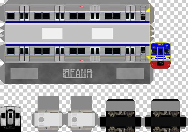 Kereta Commuter Indonesia Paper Model Train Electric
