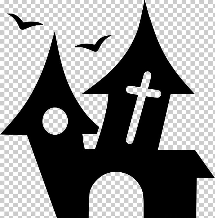 Haunted House Png Clipart Art Black Black And White