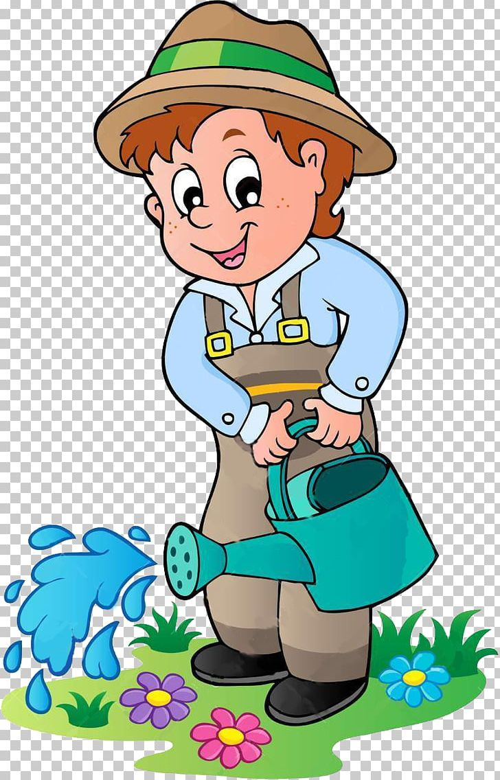 Cartoon Gardening Png Clipart Animation Area Art Artwork Boy Free Png Download