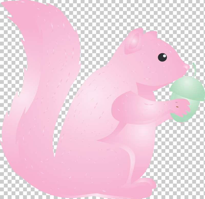Squirrel Pink Cartoon Animal Figure Tail PNG, Clipart, Animal Figure, Cartoon, Pink, Squirrel, Tail Free PNG Download