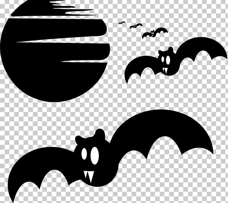Silhouette Halloween Haunted House PNG, Clipart, Artwork, Bat, Black, Black And White, Drawing Free PNG Download