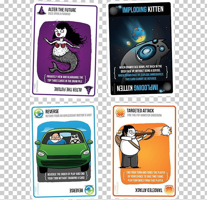 Exploding Kittens Card Game Playing Card Player Png Clipart Advertising Brand Card Game Elan Lee Electronic