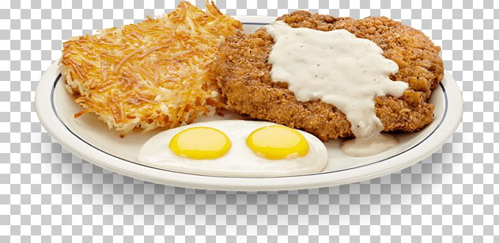 Breakfast Chicken Fried Steak Steak And Eggs Pancake Fried Chicken Png Clipart American Food Beefsteak Breakfast