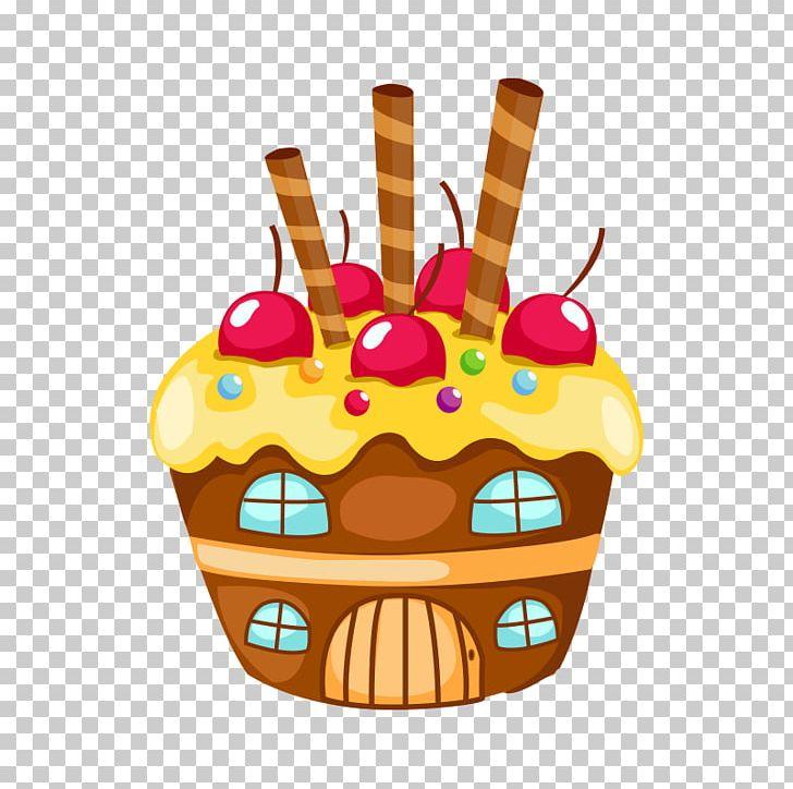 Cupcake Birthday Cake Cartoon Drawing Png Clipart Birthday Cake Cake Candy Cartoon Cold Free Png Download