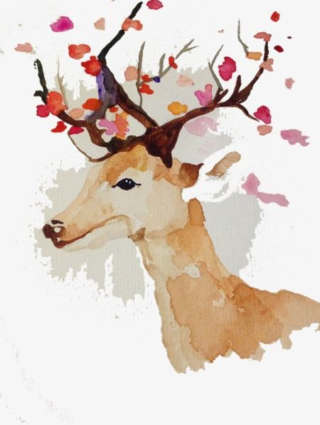 Painted Deer PNG, Clipart, Abstract, Animal, Antlers, Backgrounds, Computer Graphic Free PNG Download