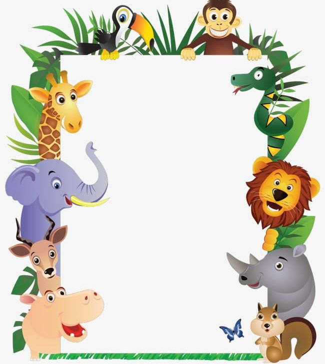 Animal Border Png Clipart Animal Clipart Animals Animals Element Border Clipart Cartoon Free Png Download