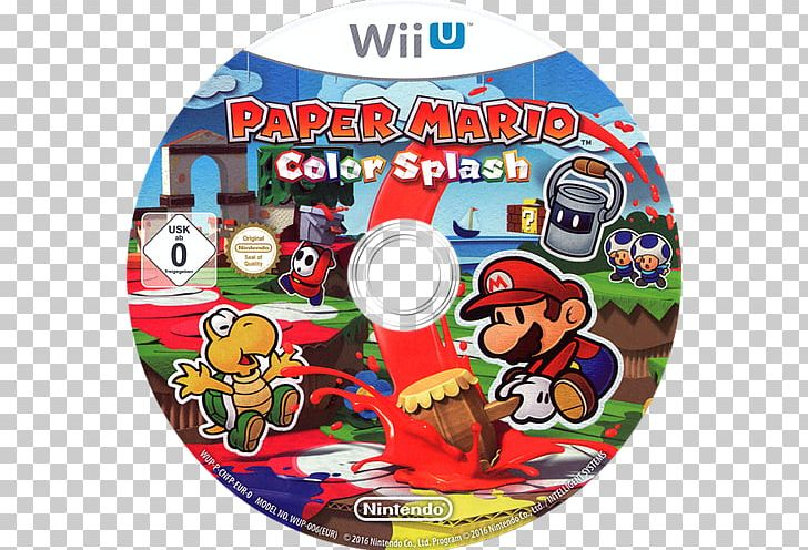 Wii U Paper Mario Color Splash Nintendo Switch Png Clipart