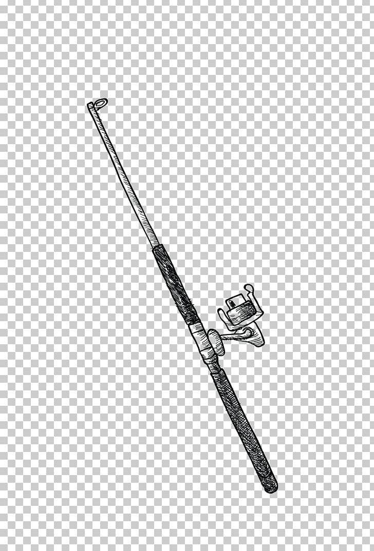Fishing Rod Angling U7aff Png Clipart Angle Background Black Baseball Equipment Black Black And White Free