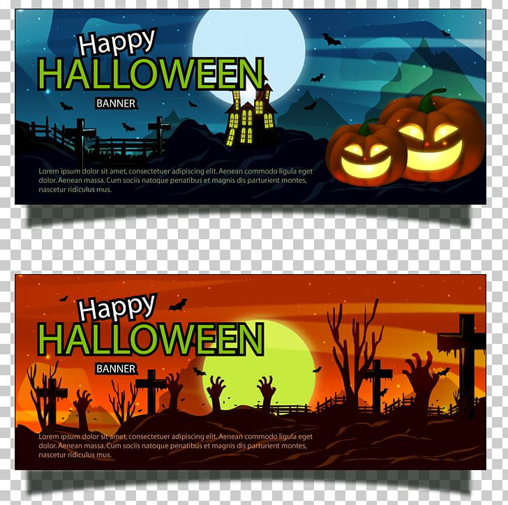 Banner Halloween Bat PNG, Clipart, Banner, Banners, Banners Vector, Cemetery, Display Advertising Free PNG Download