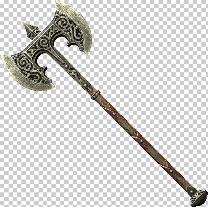 The Elder Scrolls V: Skyrim Battle Axe Dane Axe PNG, Clipart