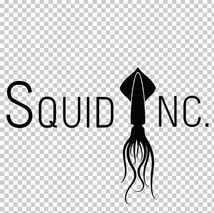 Squid As Food Logo Graphic Design PNG, Clipart, Black, Black And White, Brand, Diagram, Dribbble Free PNG Download