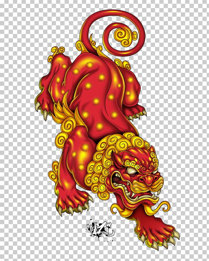 Japan Chinese Guardian Lions Tattoo Irezumi Png Clipart