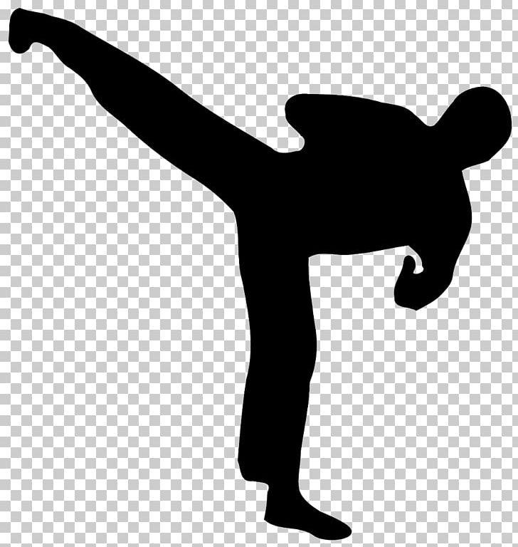Taekwondo Martial Arts Kick Hapkido Karate PNG, Clipart, Arm, Black And White, Black Belt, Combat Sport, Finger Free PNG Download