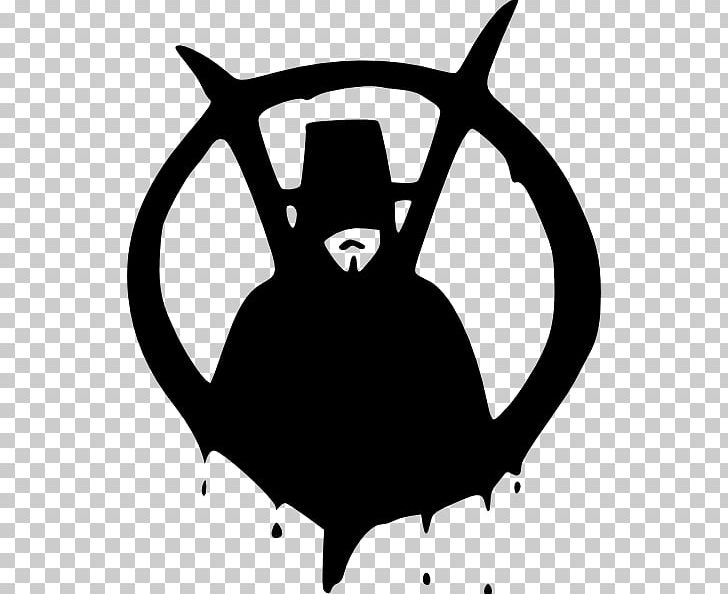 V For Vendetta Guy Fawkes Mask Png Clipart Anonymous Black