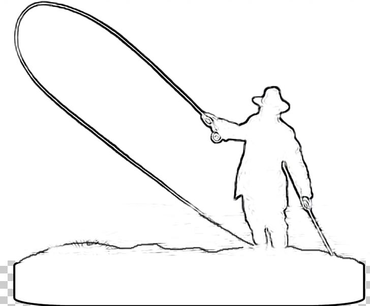 Fly Fishing Drawing Fishing Rods Png Clipart Arm Artificial Fly Artwork Black Black And White Free