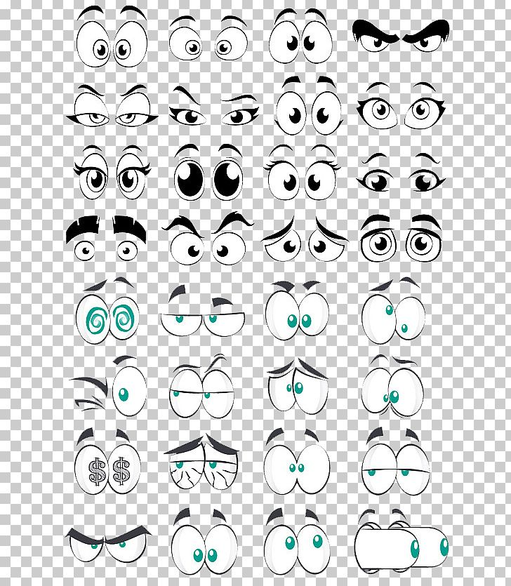 Cartoon Eye Comics PNG, Clipart, Angle, Big, Big Eyes, Black And White, Cartoon Character Free PNG Download