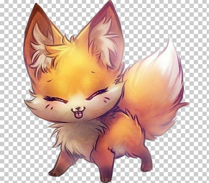 Anime Drawing Fox Kavaii Png Clipart Animal Animation