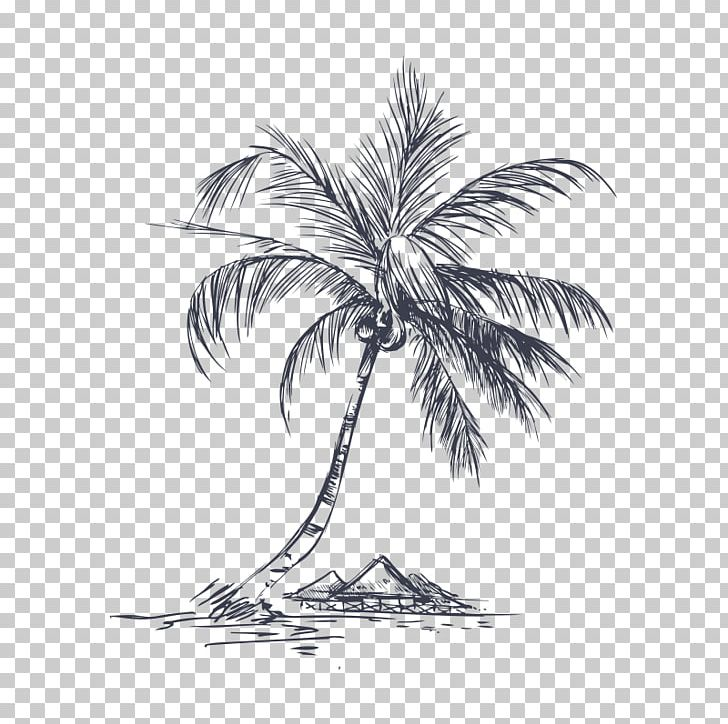 Coconut Tree Pixel Png Clipart Arecaceae Arecales Black And