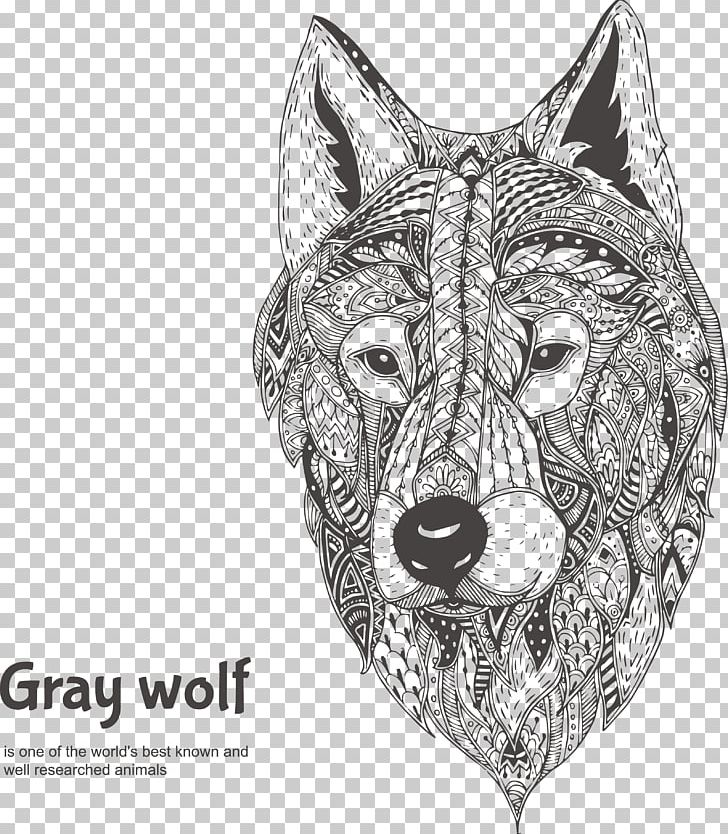 Gray Wolf Drawing Illustration Png Clipart Abstract Art