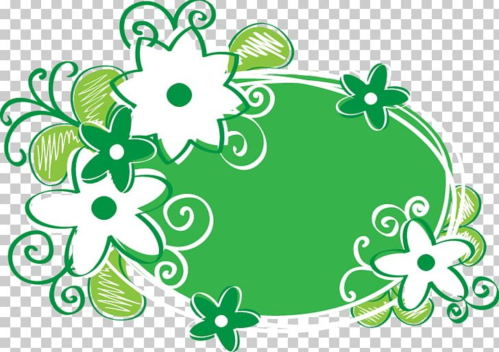 Clipart Green Floral Design Png