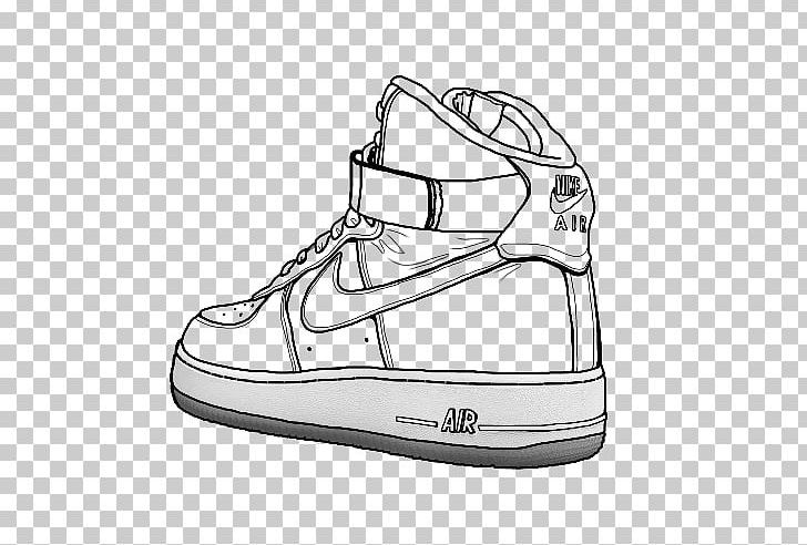 Air Force Nike Drawing Shoe High Top Png Clipart 500 X Air