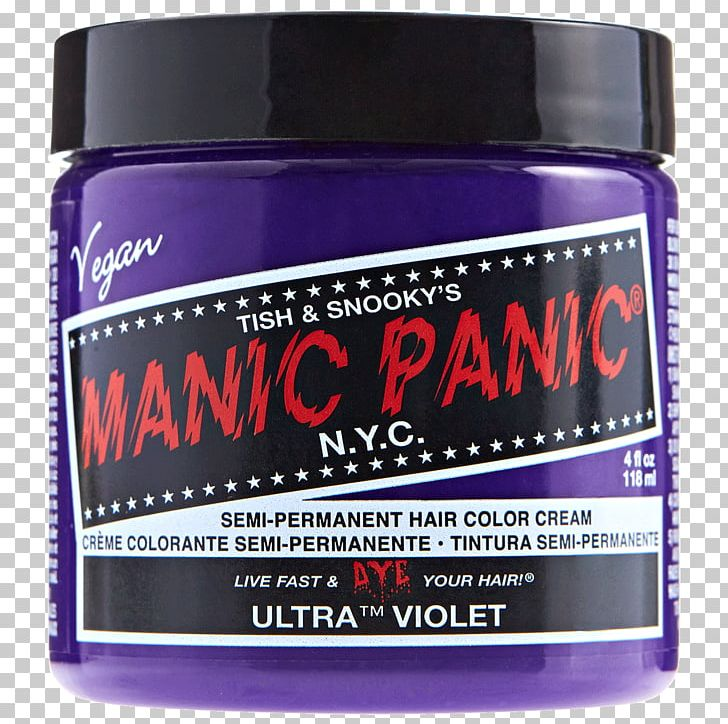 Hair Coloring Manic Panic Hair Care Cosmetics Png Clipart Blue