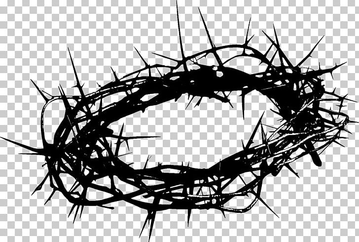 Crown Of Thorns Christianity Thorns PNG, Clipart, Black And White, Branch, Christian Cross, Christianity, Church Service Free PNG Download