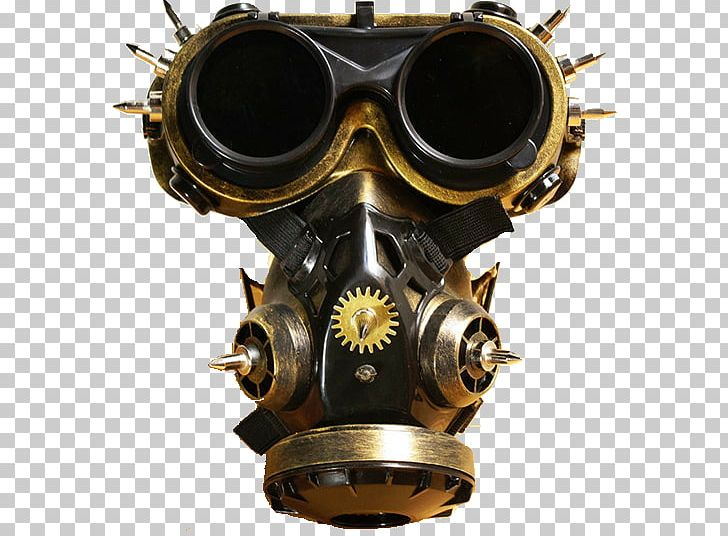 Gas Mask Costume Goggles Steampunk PNG, Clipart, Art, Brass
