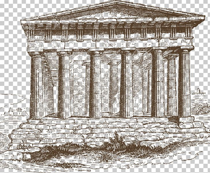Temple Of Hephaestus Ancient Greece Doric Order Ionic Order PNG