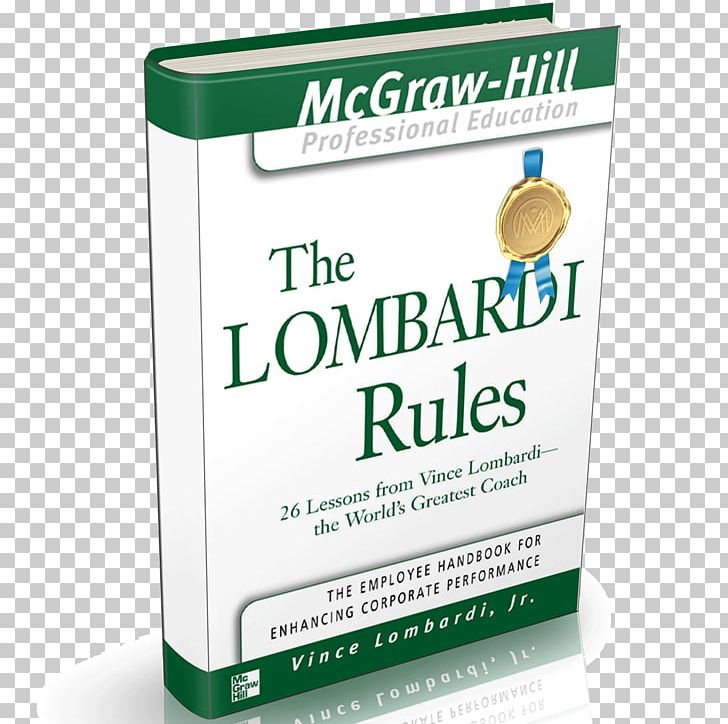 The Lombardi Rules The World's Greatest Coach Brand Book PNG, Clipart,  Free PNG Download