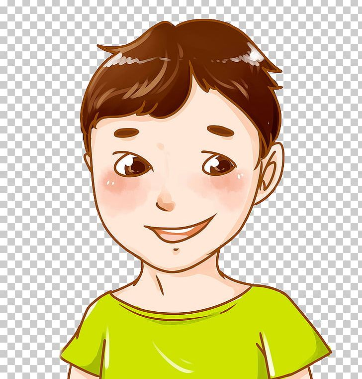 Cartoon Drawing Illustration Png Clipart Black Hair Boy Brown