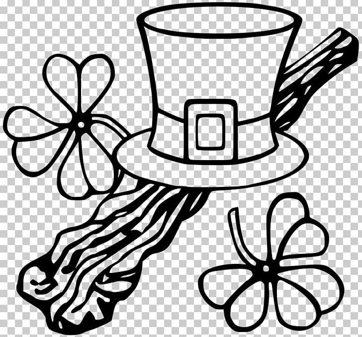 Saint Patricks Day Worksheet Coloring Book Shamrock Child PNG, Clipart, Artwork, Black And White, Child, Coloring Book, Drinkware Free PNG Download