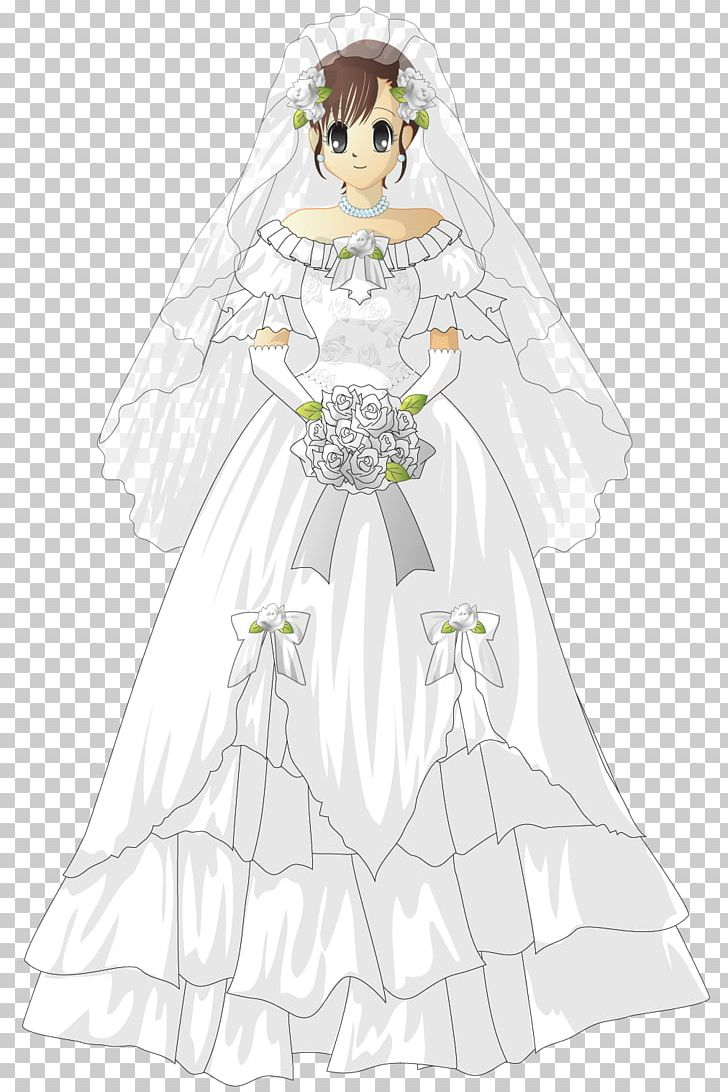Wedding Dress Bride White Png Clipart Angel Anime Bridal