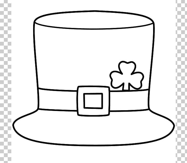 Saint Patricks Day Hat Leprechaun Shamrock Four-leaf Clover PNG, Clipart, Black And White, Child, Clover, Coloring Book, Connect The Dots Free PNG Download