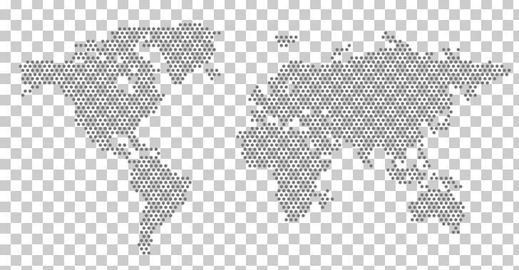 Globe World Map Dot Distribution Map PNG, Clipart, Black And White on