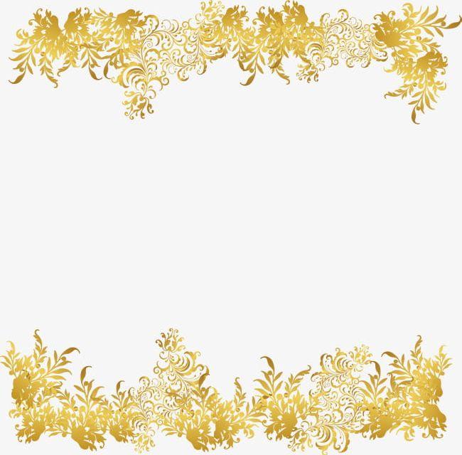 Golden Flower Rattan Frame Png Clipart Backgrounds Border