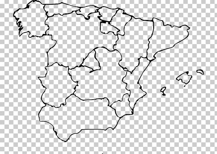 Map Of Spain Blank.Autonomous Communities Of Spain Blank Map World Map Png Clipart