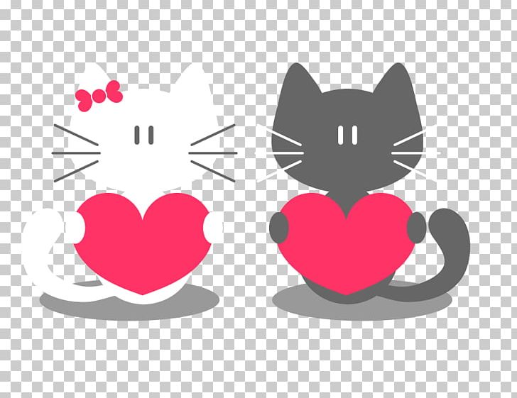 Cat Valentine S Day Kitten Tail Png Clipart Free Png Download