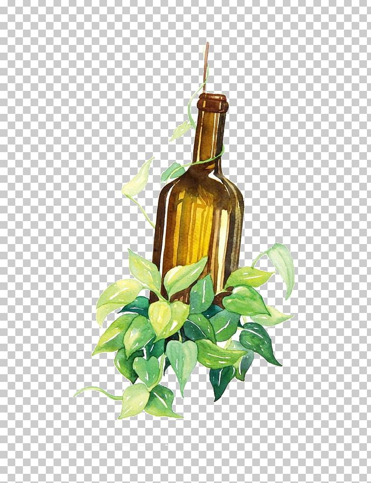 Wine Bottle Watercolor Painting Png Clipart Alcohol Alcoholic Drink Bottles Champagne Free