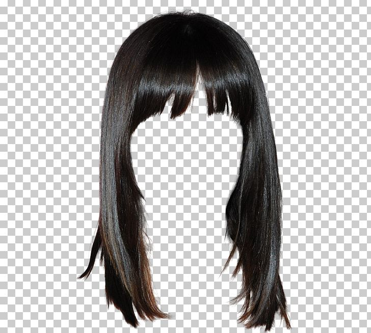 Lace Wig Hairstyle Long Hair Png Clipart Background Black Bangs