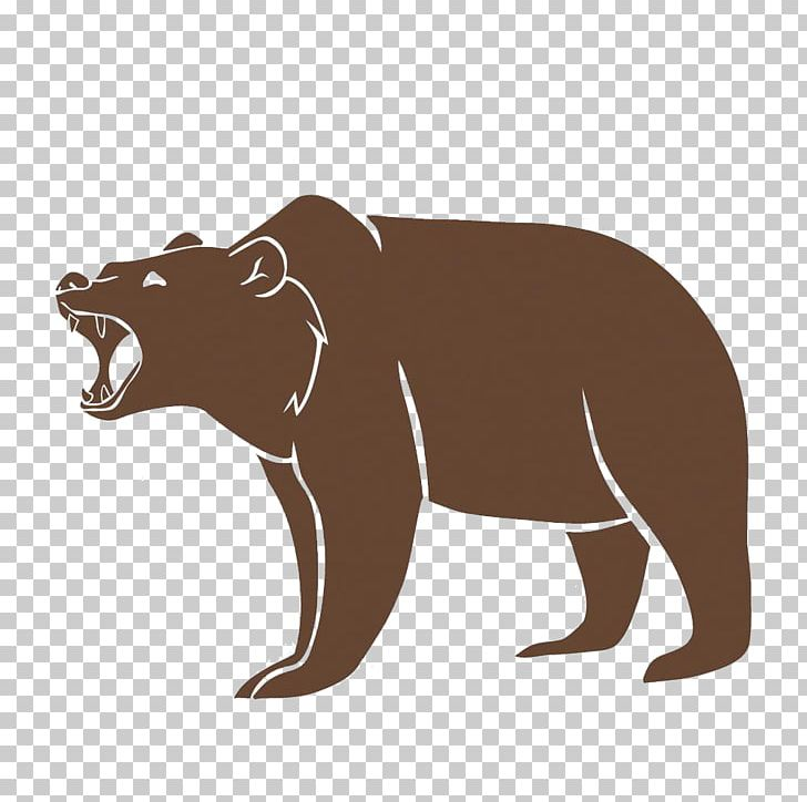 Bear roaring. Polar brown grizzly png